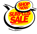 Shop Now! Surplus Sale