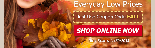 Just Use Coupon Code FALL