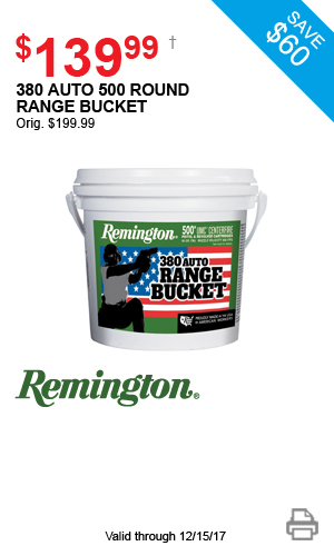 Remington 380 Auto 500 Round Range Bucket - $159.99