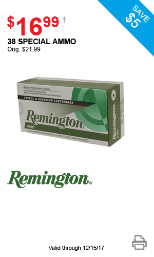 Remington 38 Special Ammo - $16.99