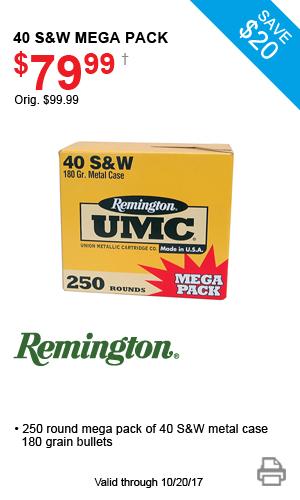 Remington 40 S&W Mega Pack - $79.99