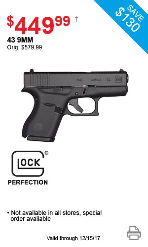 Glock 43 9mm - $449.99