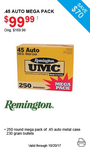 Remington .45 Auto Mega Pack - $99.99