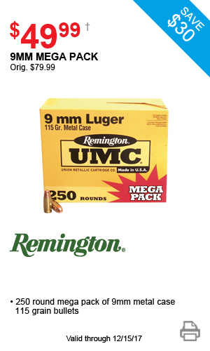 Remington 9mm Mega Pack - $54.99
