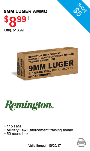 Remington 9mm Luger Ammo - $8.99