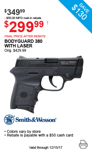 Smith & Wesson Bodyguard .380 with Laser - $349.99