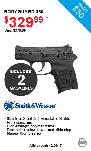 Smith & Wesson Bodyguard 380 - $329.99