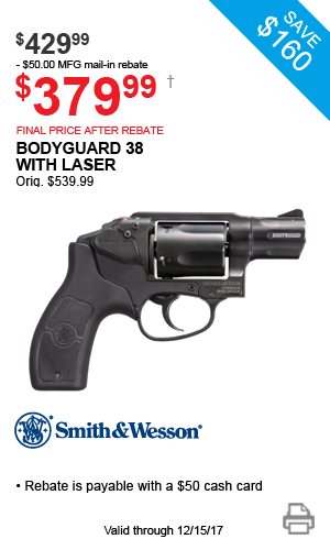 Smith & Wesson Bodyguard 38 with Laser - $429.99