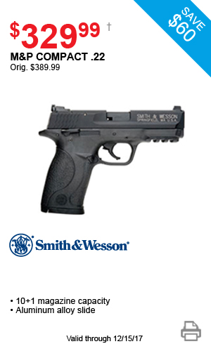 Smith & Wesson M&P Compact .22 - $329.99