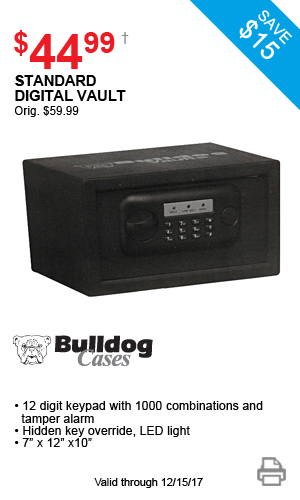 Bulldog Cases Standard Digital Vault - $44.99