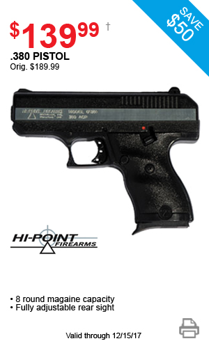 Hi-Point .380 Pistol - $139.99