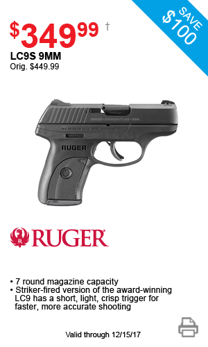Ruger LC9S 9mm - $349.99