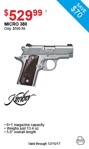 Kimber Micro 380 - $529.99