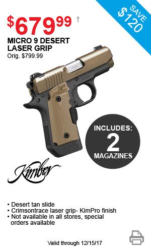 Kimber Micro 9 Desert Laser Grip - $679.99