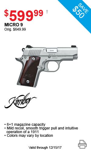 Kimber Micro 9 - $599.99