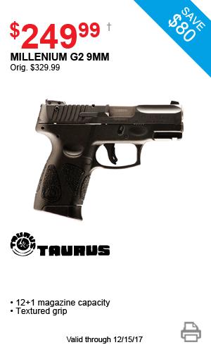 Taurus Millenium G2 9mm - $249.99