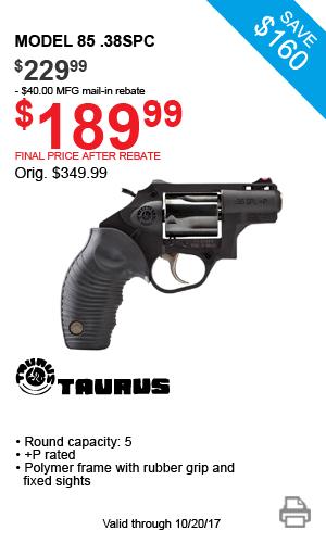 Taurus Model 85 .38SPC - $189.99