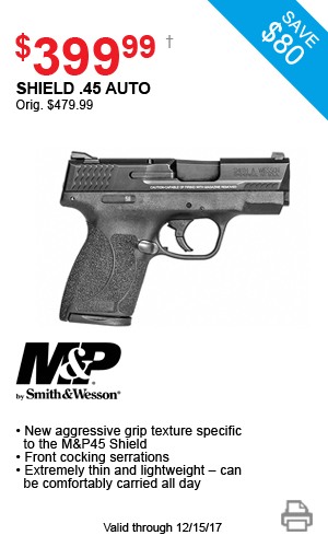 M&P by Smith & Wesson Shield .45 Auto - $429.99