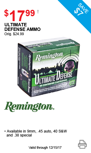 Remington Ultimate Defense Ammo - $17.99
