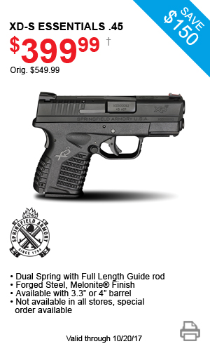 Springfield Armory XD-S Essentials .45 - $399.99