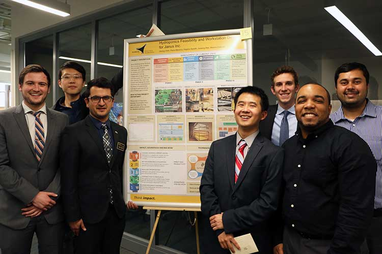 Photo of Spring 2017 Capstone Project winners