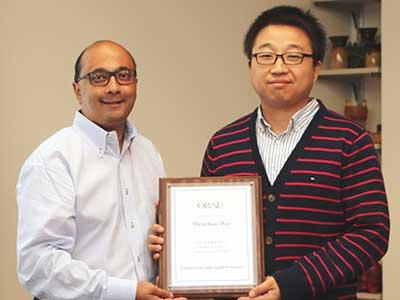 Roshanak Nateghi receives 1st ever Outstanding Graduate Mentor award