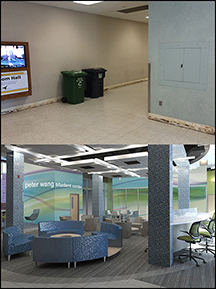 Wang Student Center, before and after