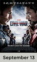 Captain America: Civil Wars movie available September 13th