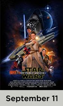 Star Wars: The Force Awakens movie available September 11th