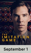 Imitation Game movie available September 1st