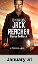 Jack Reacher: Never Go Back January 30th
