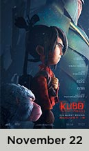 Kubo and the Two Strings November 22nd