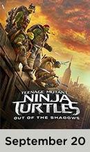 Teenage Mutant Ninja Turtles: Out of the Shadows movie available September 20th
