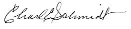 Charles Schmidt signature