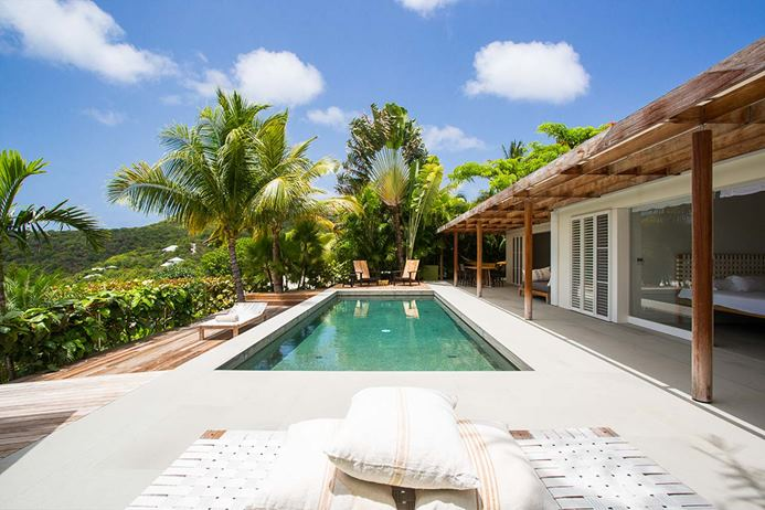 Oceanfront villa in st jean St. Barts, vacation home, vacation rental