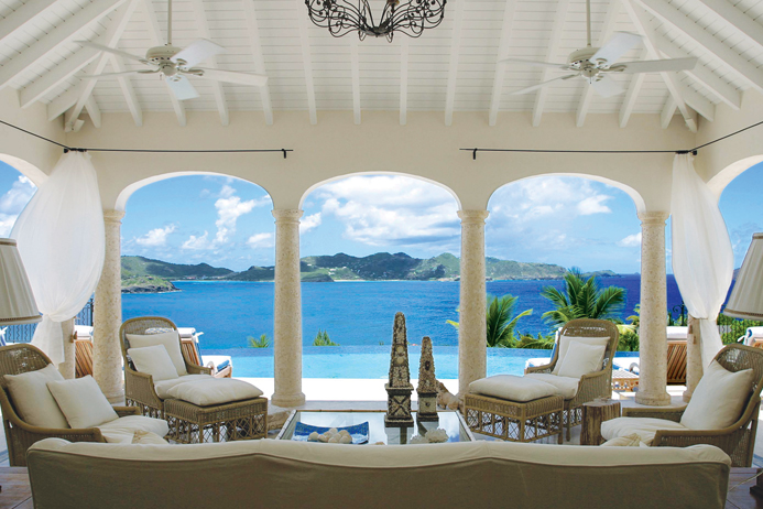 Oceanfront villa in point milou St. Barts, vacation home, vacation rental