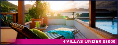 4 Villas under $5000