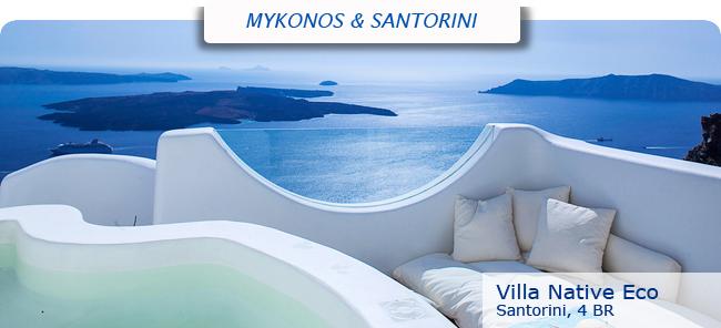Villa Native Eco, 4br, Santorini