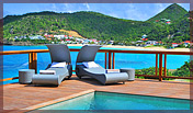 Great View from the Large Deck, 1 bedroom, Villa KAI, Flamands, St Barts