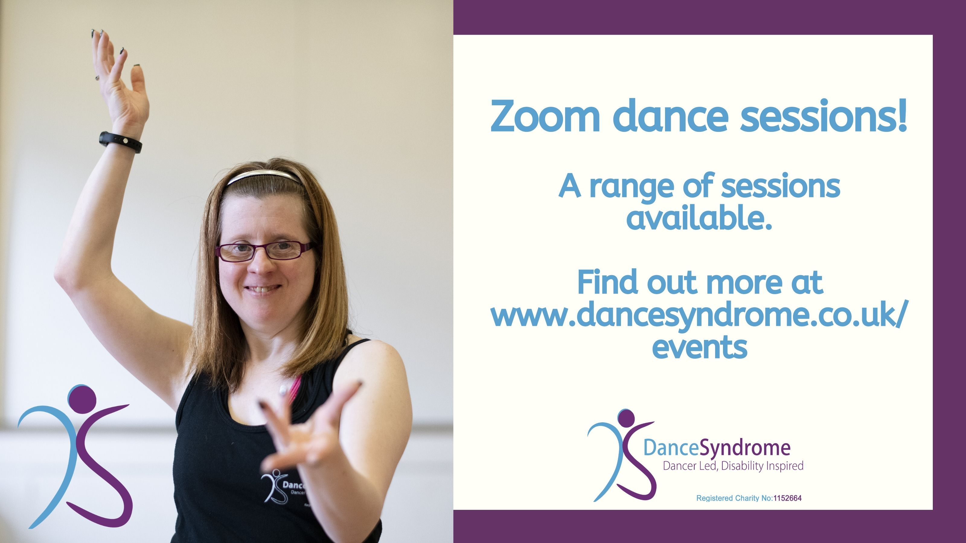 DanceSyndrome are offering live Zoom sessions