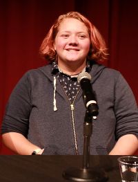 Steph Sussman at the 2018 Todays Teens: Voices of Queer Youth Panel