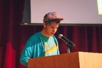 Yoni Kollin speaks at LGBTQ+ Teen Panel Event