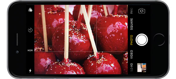 Candy Apples being photographed with iPhone
