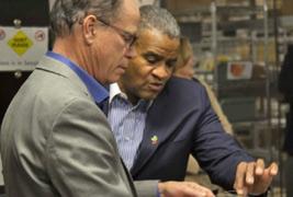 U.S Senator Mike Braun and Smithville CEO Paul Quick