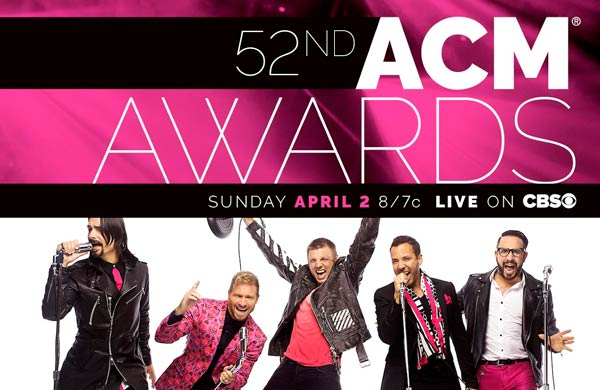 52nd ACM awards with The Backstreet Boys