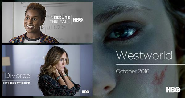 HBO series: Insecure, Divorce, and Westworld