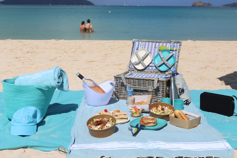 Catered beach picnic in St. Barths