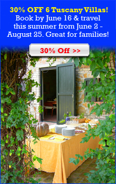 30% Off 6 Tuscany Villas